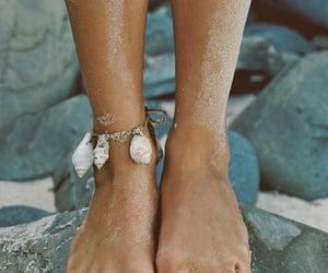 barefoot, rocks, and Sandy image