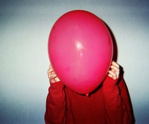 boy, red, and balloon image
