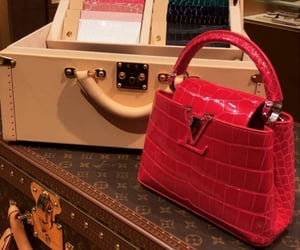 bag, Louis Vuitton, and red image
