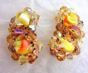 etsy, crystal earrings, and renaissance fair image
