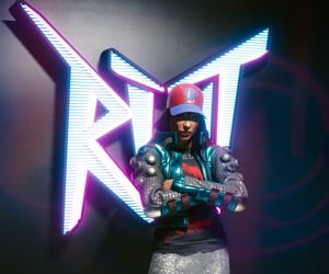 arms crossed, neon, and riot image