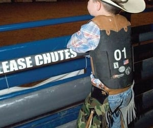 boy, family, and rodeo image