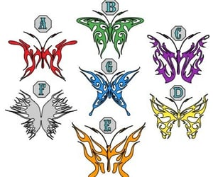 butterflies, butterfly, and decal image