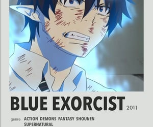 photo wall, aesthetic, and blue exorcist image