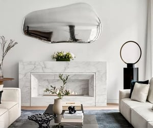 fireplace and living room image