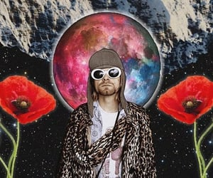 Collage, kurt cobain, and collageart image