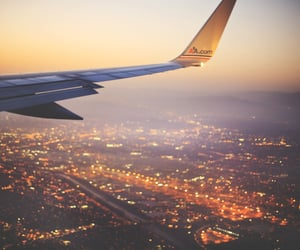 airplane, airplanes, and cities image