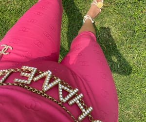 chanel, outfit, and pink image