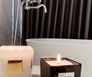 bath, candles, and relaxation image