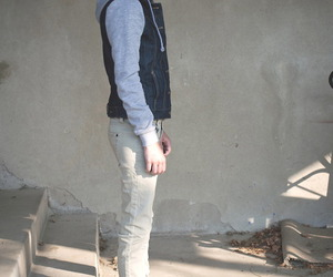 androgynous, denim, and P image