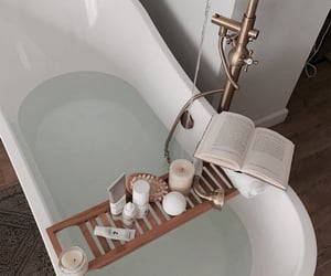 bath, book, and home image