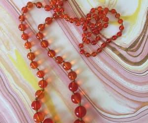 etsy, czechoslovakian bead, and orange czech beads image