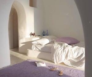 bedroom, purple, and room image