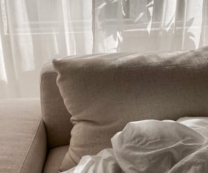bed, pillow, and sheets image