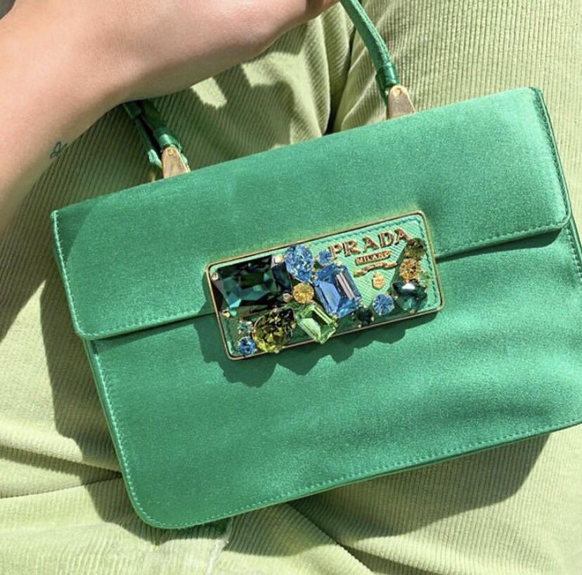 bag, Prada, and diamonds image