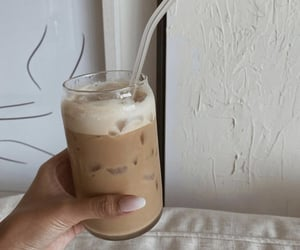 coffee, iced, and drink image