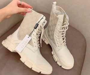 Gucci white boots