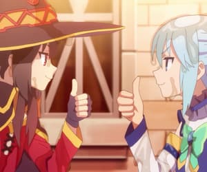 konosuba, anime, and aqua image