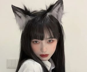 aesthetic, asian, and kitty image