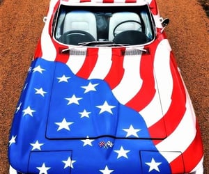 stars and stripes, america, and automobiles image