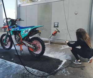 bike, cleaning, and ktm image