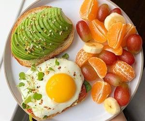 banana, avocado toast, and egg image