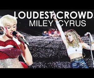 crowd, fans, and miley cyrus live image