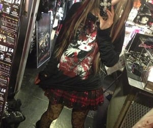 fit, girl, and gothic image