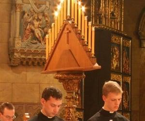 aesthetic, candles, and Catholic image
