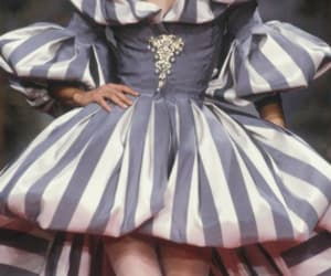 gown, stripes, and 1991 image