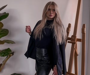 blonde hair, classy, and outfit image