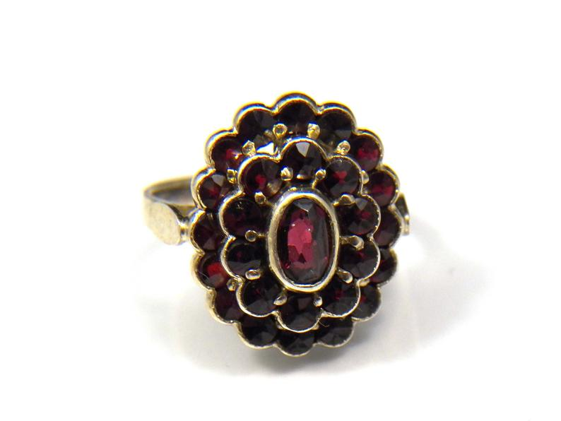 vintage ring, garnet jewelry, and ring size 5 image