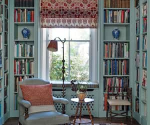 decor, library, and home image
