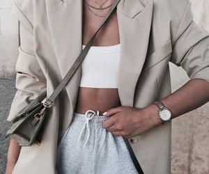 bag, blazer, and casual image