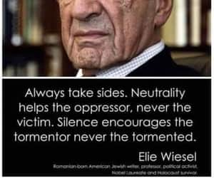 silence, elie wiesel, and victims image