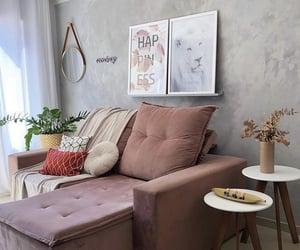 rose, home decor, and sofa image