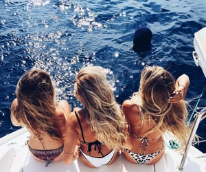 beach, friends, and fashion image