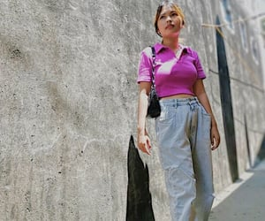 outfit, pants, and baggy pants image