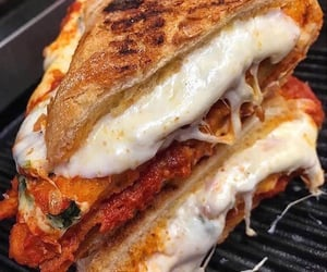 food, grilled cheese, and junk food image