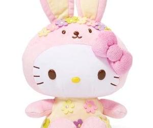 bunny, pink, and yellow image