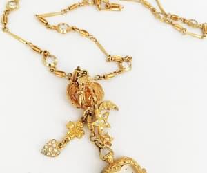 Kirks Folly Watch Charm Necklace Angel Holding Heart Shape image 0