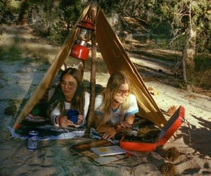 1970, 70s, and camping image