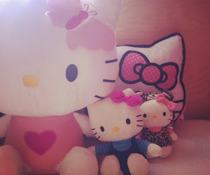 bow, girly, and hello kitty image