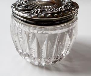etsy, antique powder jar, and art nouveau jar image