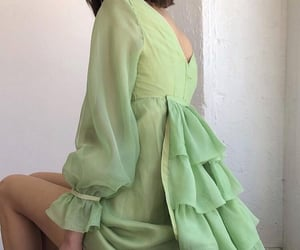 aesthetic, dresses, and emerald image