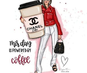 coffee, ksenia onegina, and chanel image