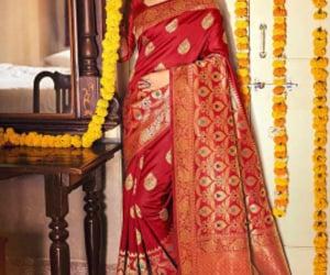 saree, designer saree, and silk saree image