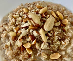 almonds, breakfast, and oatmeal image
