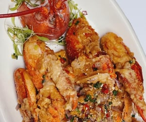 chinese food, food, and lobster image