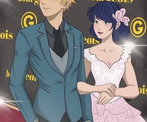 Adrien, anime, and couple image